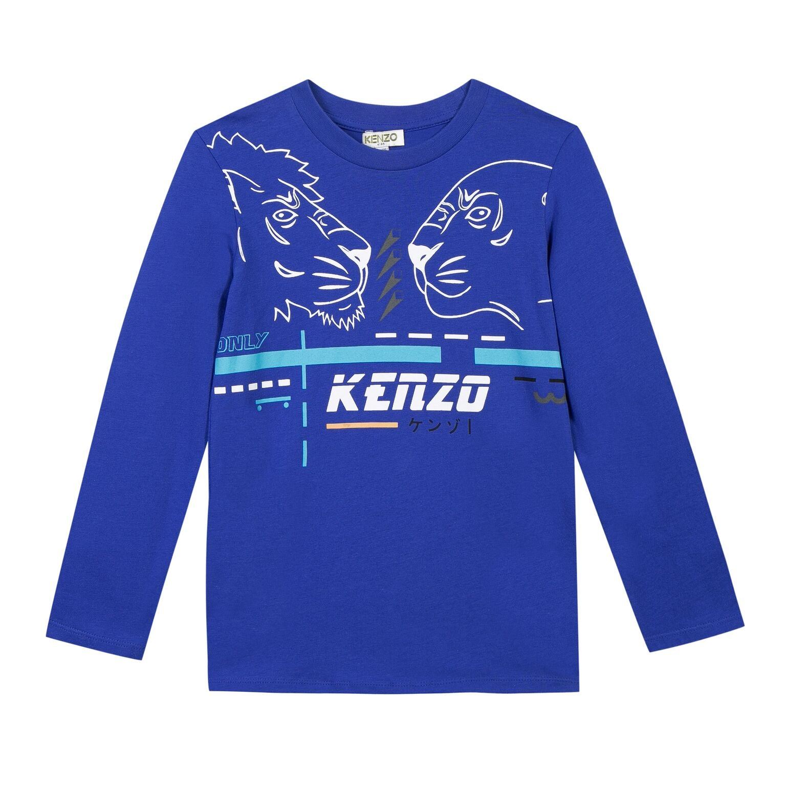 Kenzo Kids lion print long sleeved T-shirt