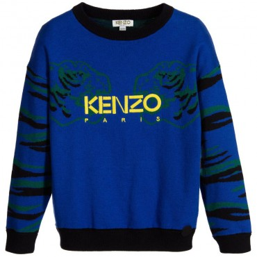 Kenzo Kids Logo-Embroidered Sweater