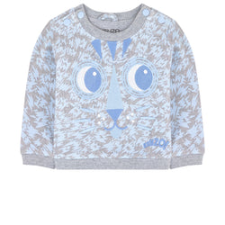 Kenzo Kids Embroidered organic cotton sweatshirt - Mini Tiger
