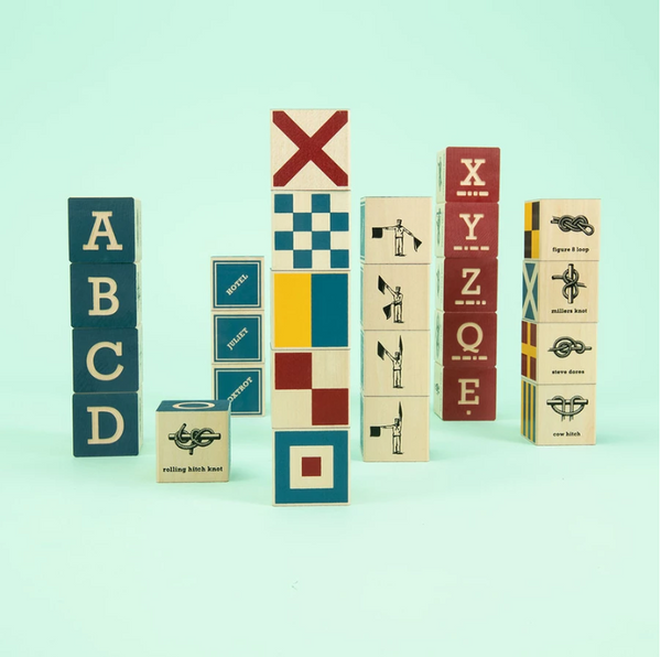 Uncle Goose Nautical ABC Blocks
