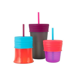 Boon SNUG STRAW Universal Silicone Straw Lids and Cup