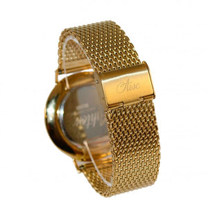 AWC Belfast 2faced gold timepiece