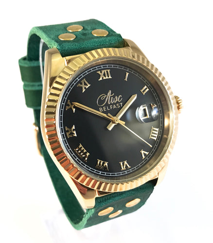 AWC BELFAST MARITIMER (GOLD & EMERALD GREEN LEATHER)
