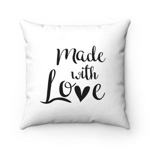 Made With Love Spun Polyester Square Pillow