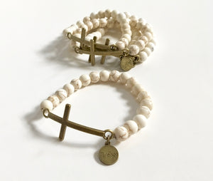 Bronze Cross Bracelet