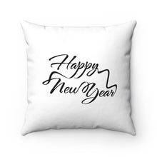 Happy New Year Spun Polyester Square Pillow