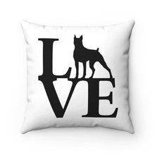 Love Dog Spun Polyester Square Pillow