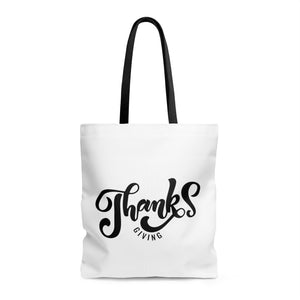 Thanks Giving AOP Tote Bag