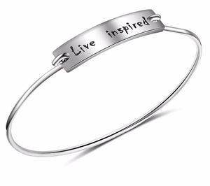 Sterling Silver Inspired Bangle Bracelet
