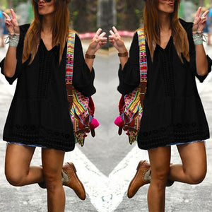Bohemian Mini Beach Dress