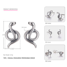 Sterling Silver Serpent Earring
