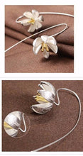Water Lily Sterling Silver Earrings