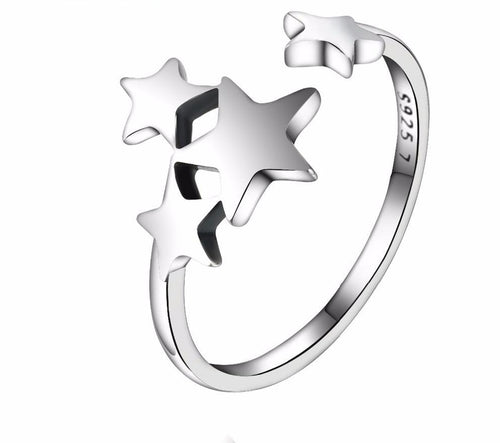 Star Trail Stackable Ring Sterling Silver