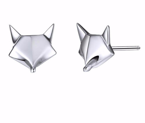 Sterling Silver Geo Fox Earrings
