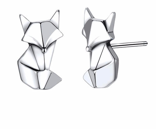 Geo Fox Sterling Silver Earrings