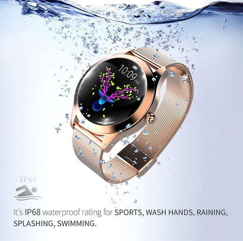 RoseGold Smartwatch For Women pepmyphone.com