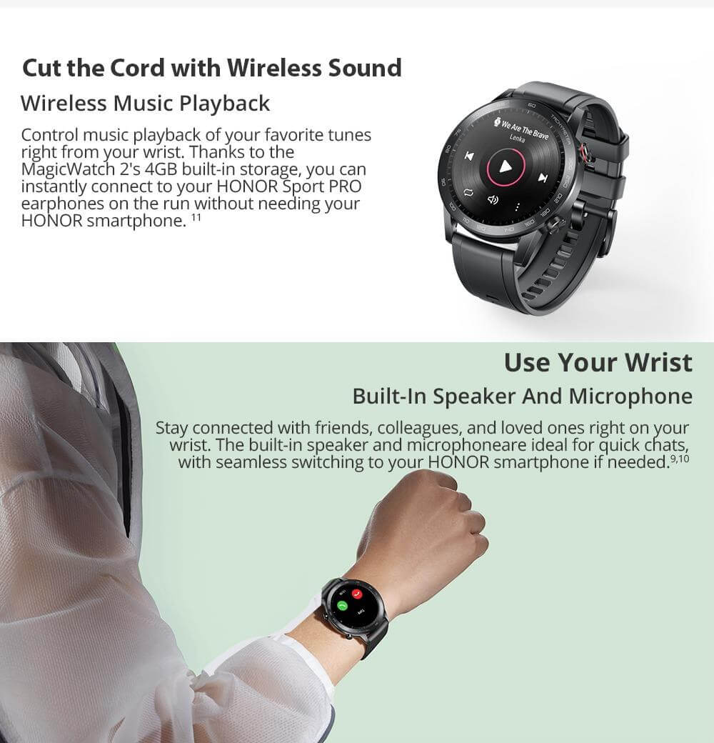 Huawei Honor Magic Watch 2 Features Built in Speaker & Microphone