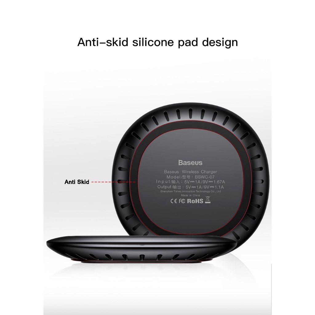 Baseus UFO Qi Standard Wireless Charger with cable Anti Skid