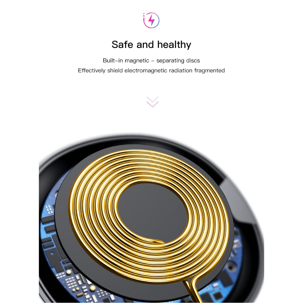 Baseus UFO Qi Standard Wireless Charger with cable Copper Coil