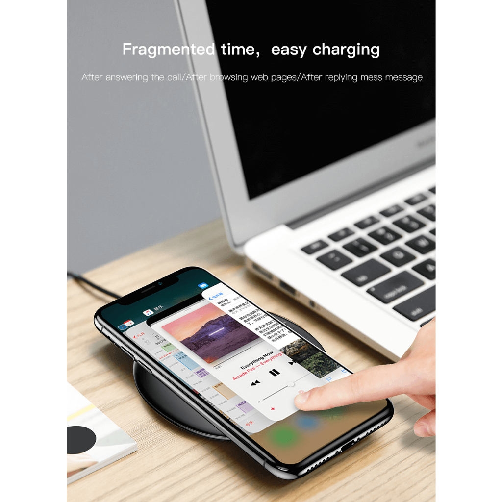 Baseus UFO Qi Standard Wireless Charger with cable Easy Charge
