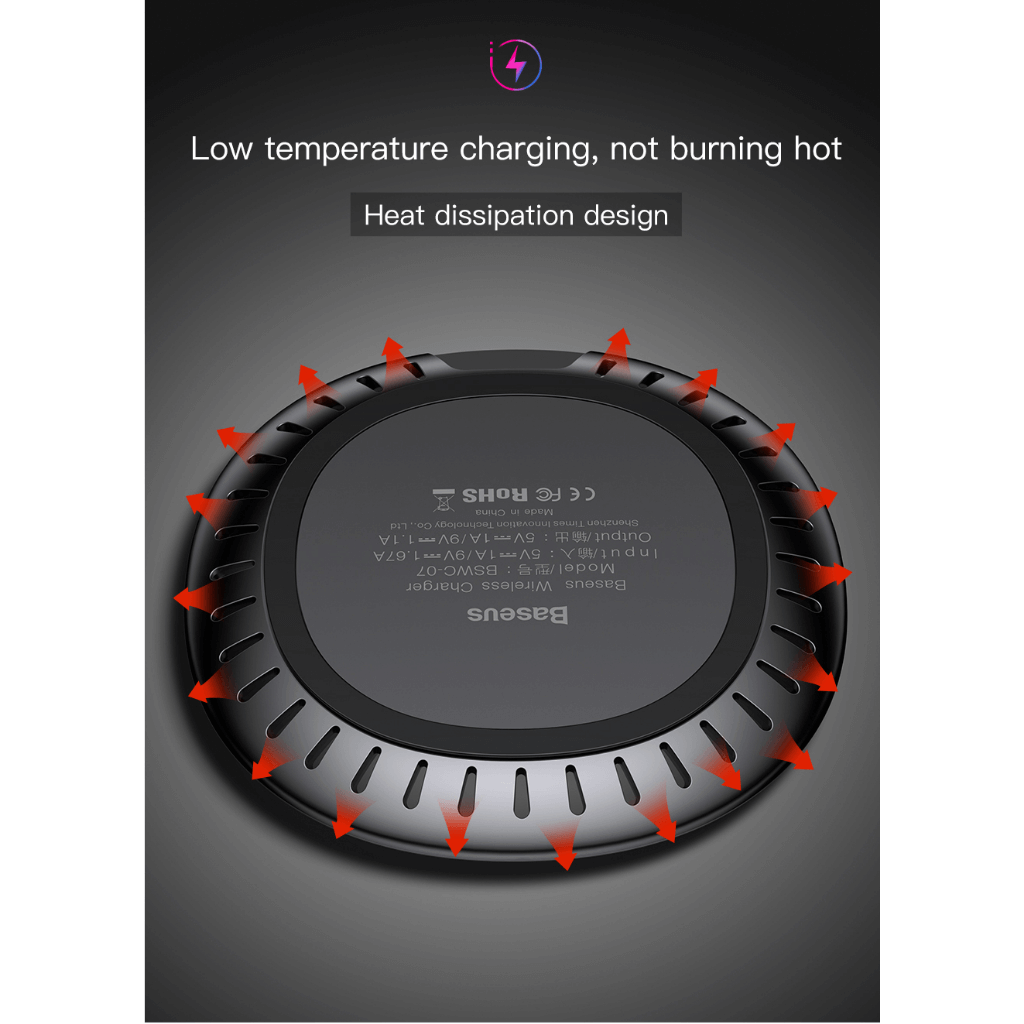 Baseus UFO Qi Standard Wireless Charger with cable Heat Dissipation