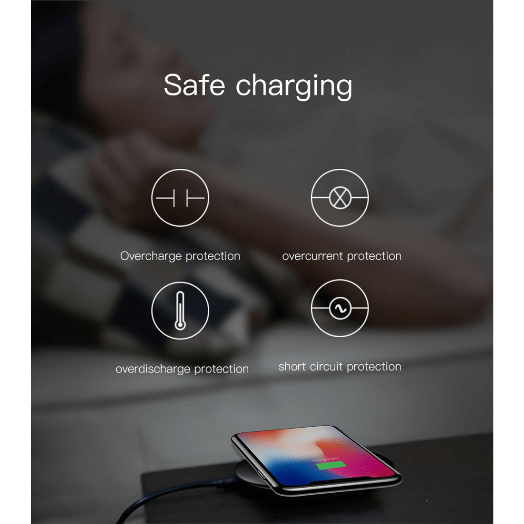 Baseus UFO Qi Standard Wireless Charger with cable Safe Charging