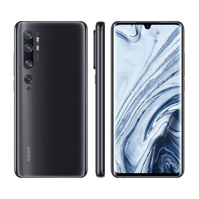 Xiaomi Note 10 6GB 128GB Black Front & Back Side