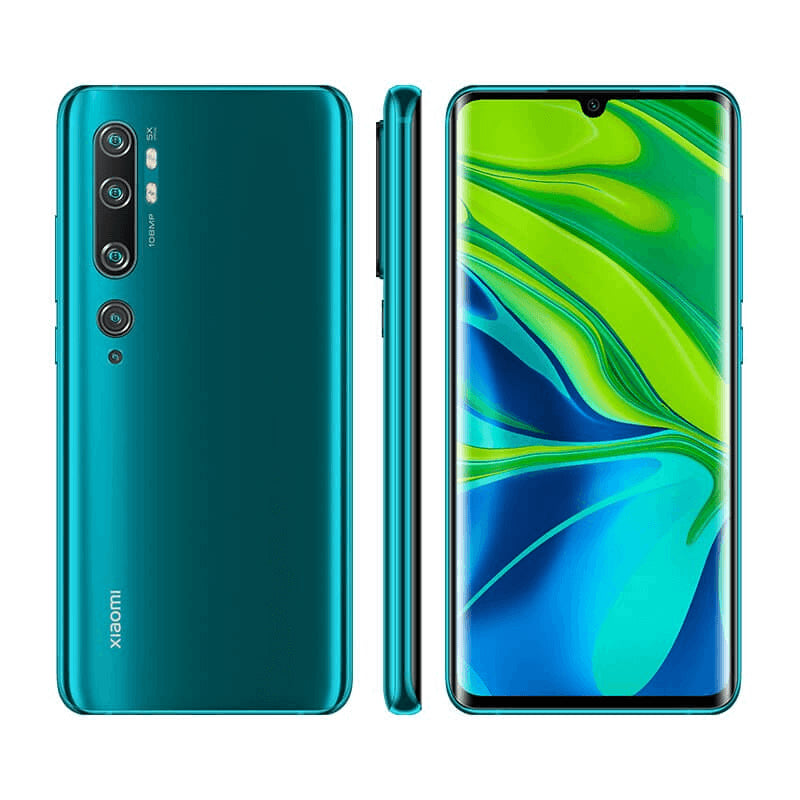 Xiaomi Note 10 6GB 128GB Green Front & Back Side