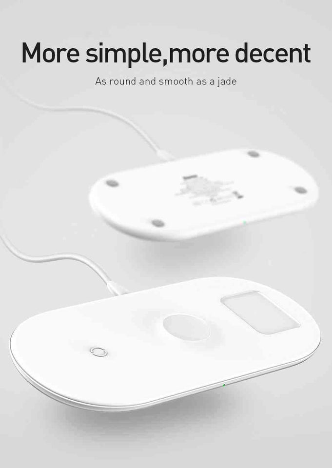 3 in 1 Wireless Fast Charging Pad for iPhone, Airpods and iWatch Qi - pepmyphone
