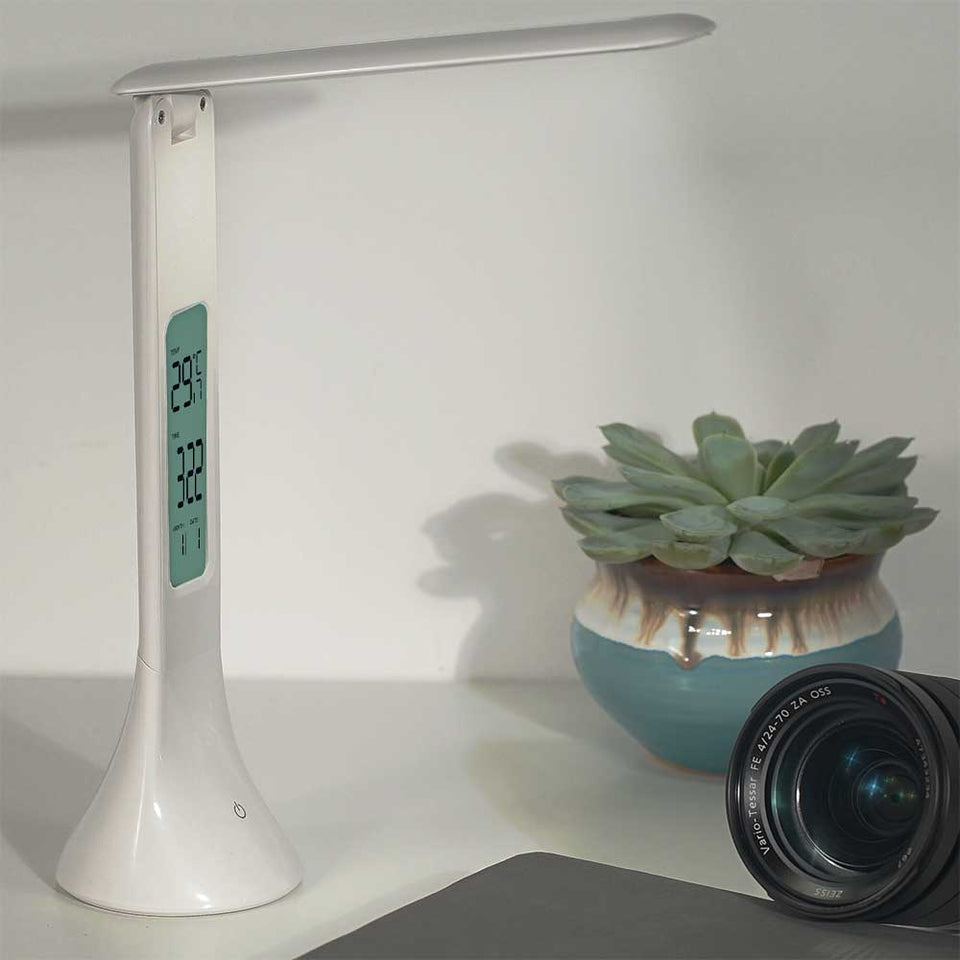 LED Desk Lamp with Temperature Clock Alarm Calendar Dimmable pepmyphone (2)