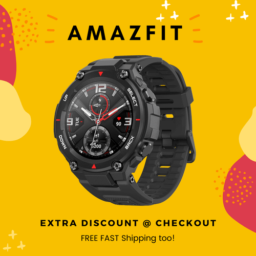 Amazfit T Rex -  Smart Watch - 12 Mil-STD Certifications - iOS - Android