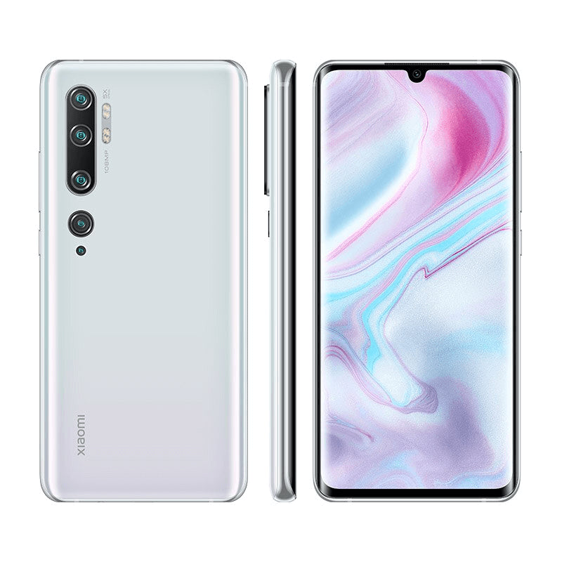 Xiaomi Note 10 6GB 128GB White Color Front & Back Side