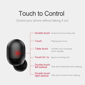 Wireless Ear Pods with Controls, Bluetooth 5.0 HD Stereo - pepmyphone
