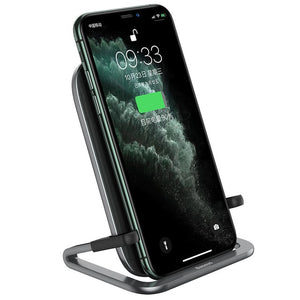 Baseus Qi Wireless Charger Station and Phone Holder - Patented Design 3 Styles in 1 - Black