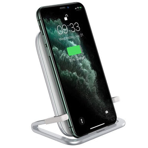 Baseus Qi Wireless Charger Station and Phone Holder - Patented Design 3 Styles in 1 - White