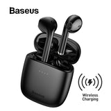 TWS Bluetooth 5.0 Wireless Stereo Touch Control Ear Pods with Wireless Charging - Black