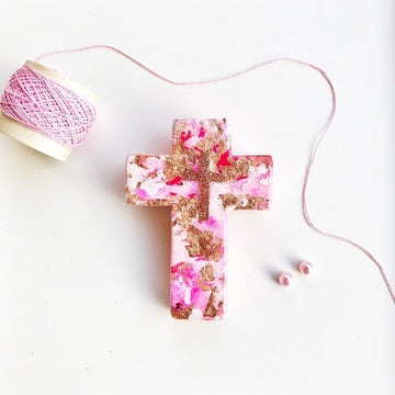 Hand Made Cross - FAIRY FLOSS