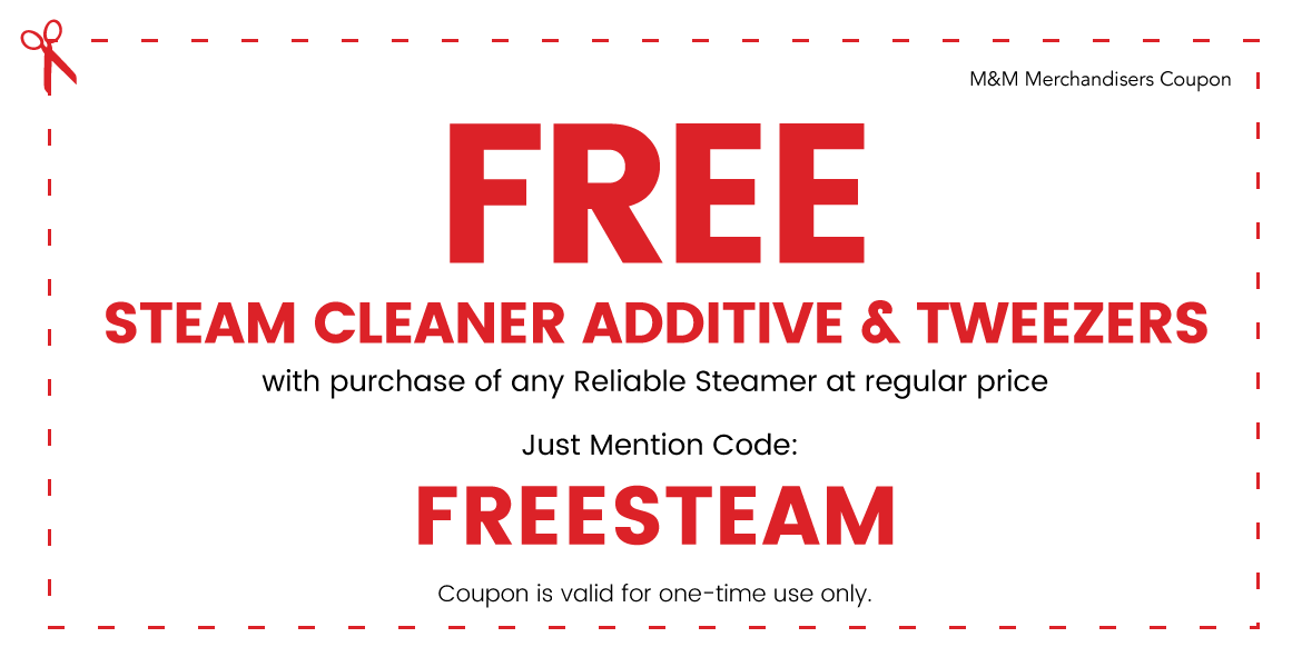 Free Steam Cleaner Additive and Tweezers
