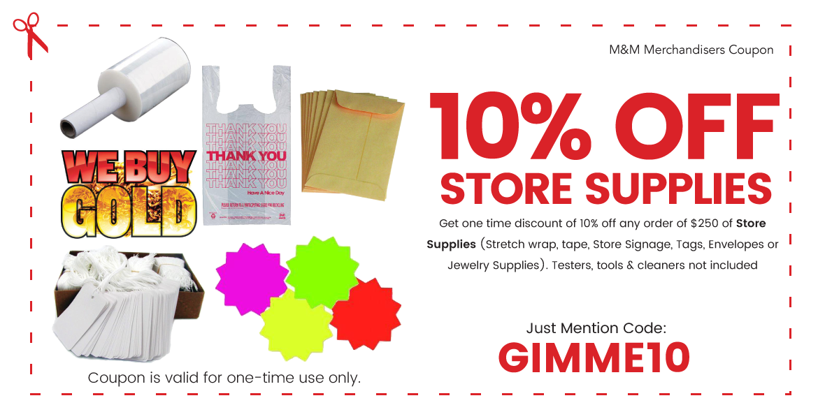 10% off Store Supplies Coupon