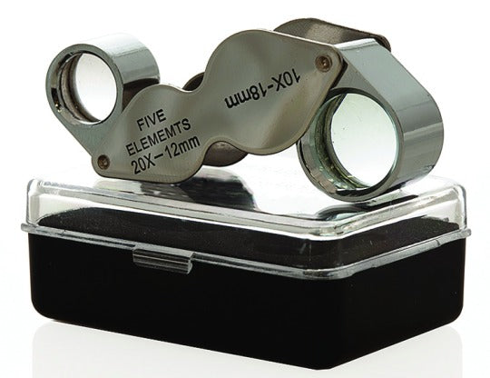 10x 18mm and 20x 21mm Dual Power Loupe
