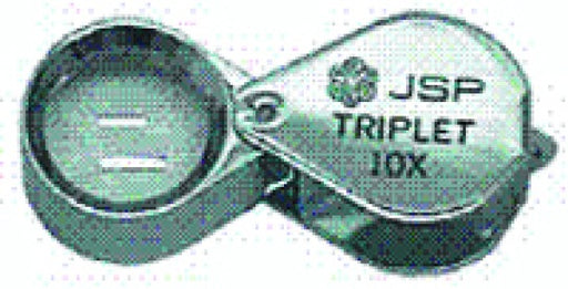 10x Triplet Loupe 18mm Chrome Plated