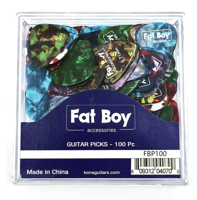 Fat Boy FBP100 Celluloid Picks 0.46 - 0.81mm 100 Pcs
