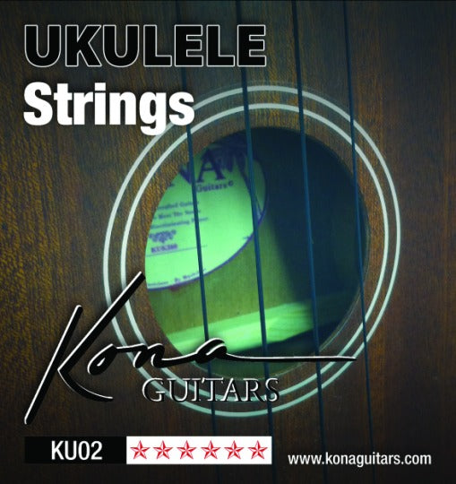Kona KU02 Ukulele Strings - Black Nylon