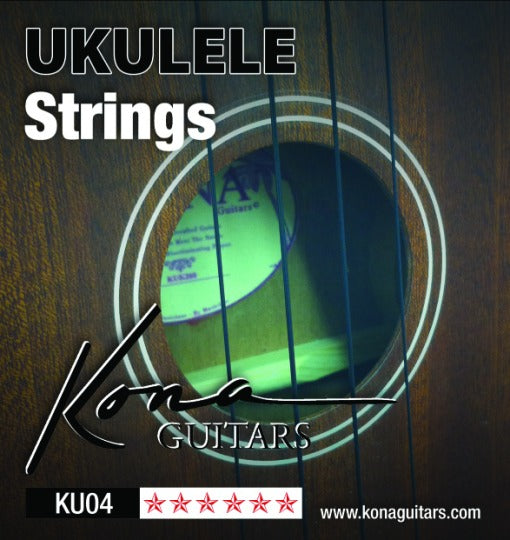 Kona KU04 Ukulele Strings - Clear Nylon