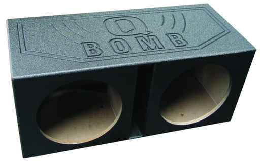 Q Bomb Dual 12in Vented Box Painted Black