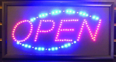 Neon LED Open Sign