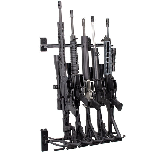SW-HD53C  Vertical 6-Gun Slat Wall Mount Display Stand