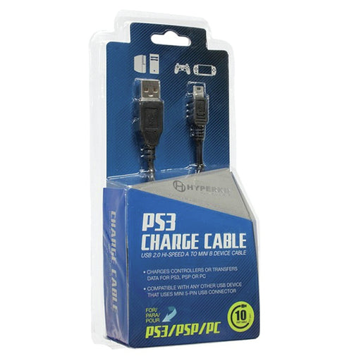 PS3 Hyperkin Controller Charge 10ftCable