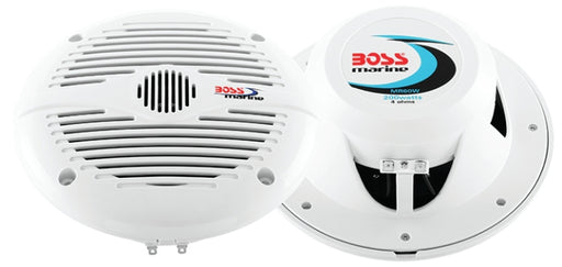 "Boss 6.5"" 2-Way Marine Speaker White"
