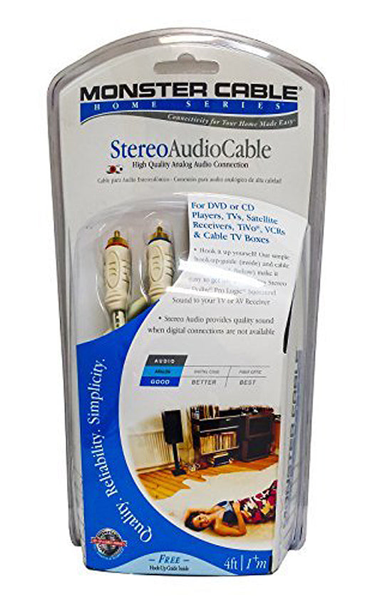 130350-00 Monster Premium Audio Video Cable 8 ft